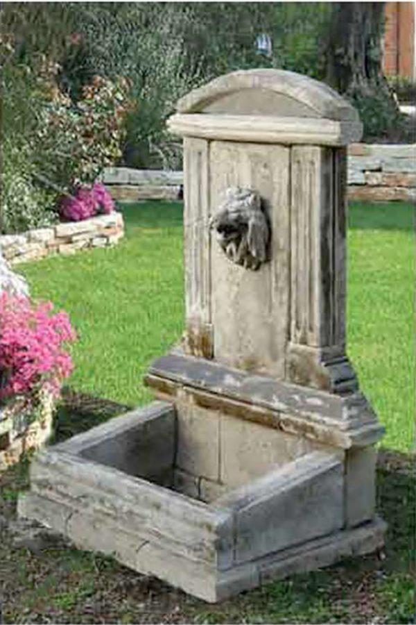 Diso fontana a parete in pietra scolpita a mano