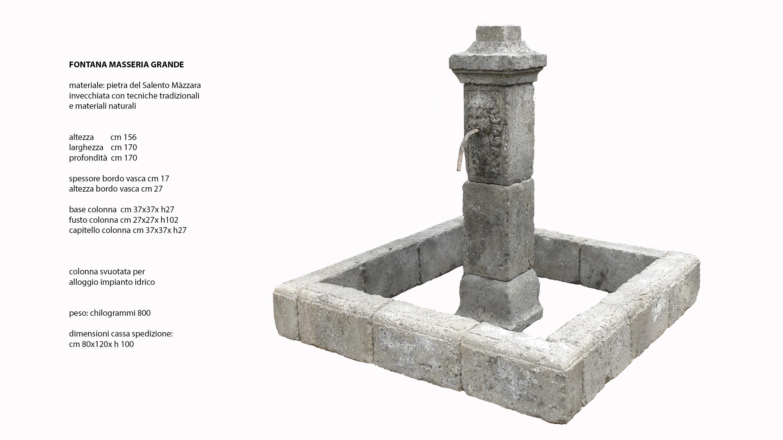 Vasche In Pietra Per Fontane fontana masseria grande in pietra mazzara